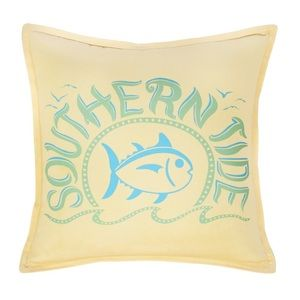 Southern Tide Skipjack Yellow Throw Pillow